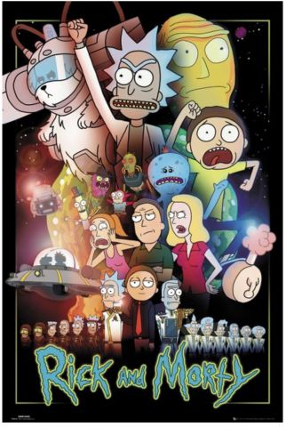 Rick and Morty Wars Maxi Poster by GB Eye FP4576