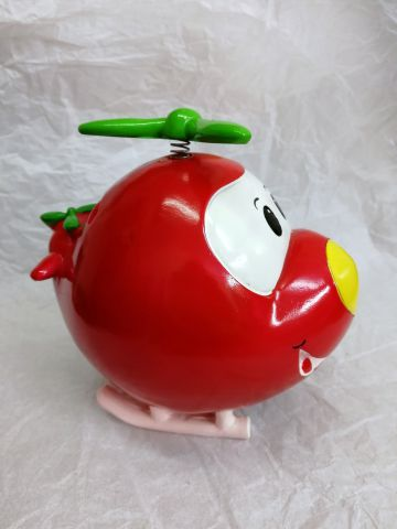 50875C Cute Red Helicopter Money Bank by Shudehill Giftware