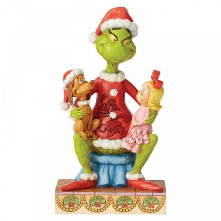 Grinch with Cindy Lou and Max Figurine Jim Shore & Enesco 6004064