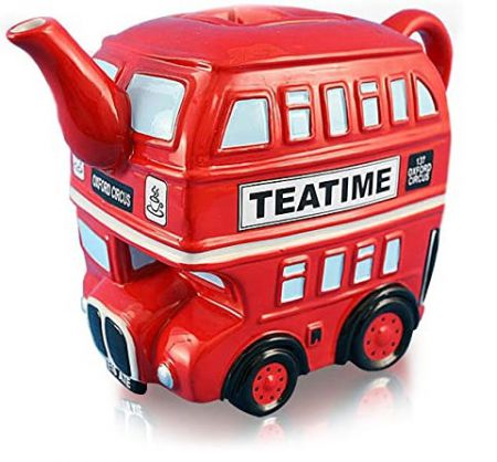 London Routemaster Bus Red Ceramic Teapot 62125