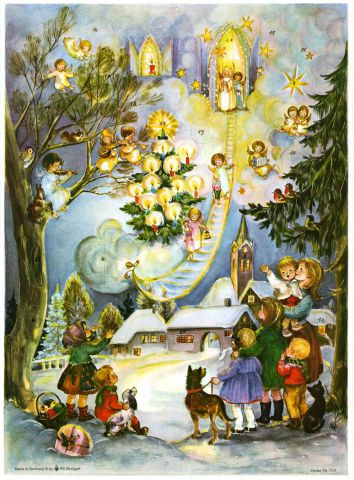 704 Stairway to Heaven Advent Calendar by Richard Sellmer