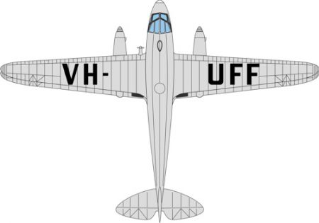 72DR013 DH Dragon Rapide VH-UFF Australian National Airways by Oxford Diecast
