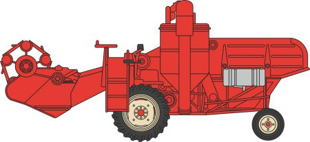 76CHV001 Combine Harvester Red