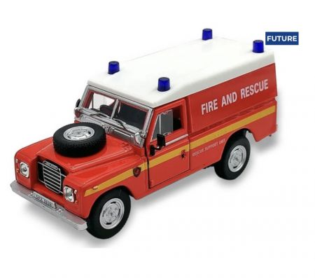 Cararama Land Rover Series 111, 109 Hard Top, Red, Fire & Rescue CR553940
