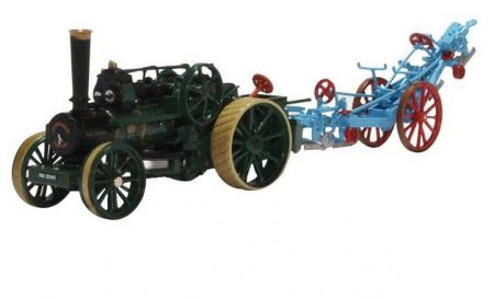 Oxford Diecast Fowler Ploughing Engine No. 15334 Lady Caroline and Plough 76FBB005