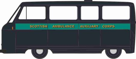 76JM023 Morris J2 Ambulance Scottish Ambulance Auxiliary Corps