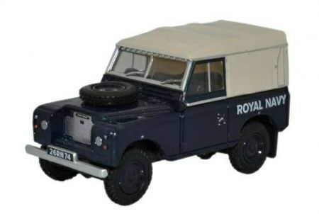 76LR3S004 Land Rover Series III SWB Canvas Royal Navy by Oxford Diecast