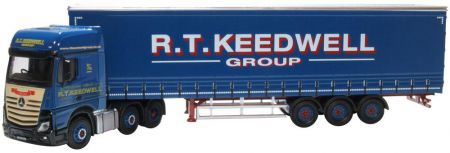 Oxford Diecast Mercedes Actros GSC Curtainside R T Keedwell 76MB011