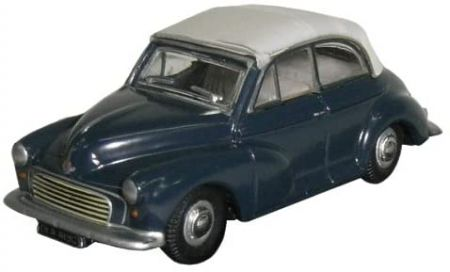 Oxford Diecast Morris Minor Convertible Trafalgar Blue/Pearl Grey 76MMC004