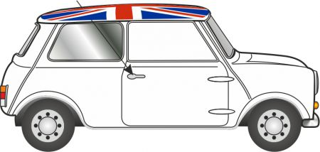 76MN011	Austin Mini Cooper White Union Jack
