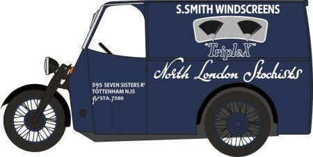 76TV009 Tricycle Van Trivan S. Smith Windscreens