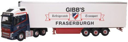 Oxford Diecast Volvo FH4 GXL Fridge Trailer Gibbs of Fraserburgh 76VOL4011
