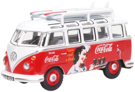 Oxford Diecast VW T1 Bus and Surfboards Coca Cola 76VWS008CC