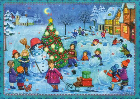 810 Lets Build a Snowman Traditional A4 Advent Calendar by Richard Sellmer