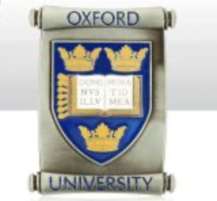 Oxford University Scroll & Shield Metal Magnet  73724