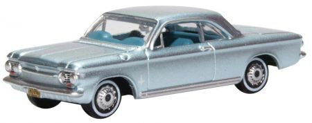 Oxford Diecast Chevrolet Corvair Coupe 1963 Satin Silver 87CH63001