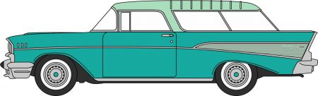Oxford Diecast Surf Green/Highland Green Chevrolet Nomad 1957 87CN57006