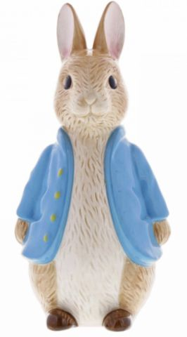 Peter Rabbit Sculpted Ceramic Money Bank by Enesco A29292