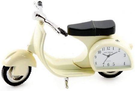 Cream Vespa Scooter Miniature Clock by Widdop & Co 9088