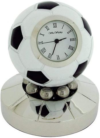 Rotating Football Miniature Clock by Widdop & Co 9878