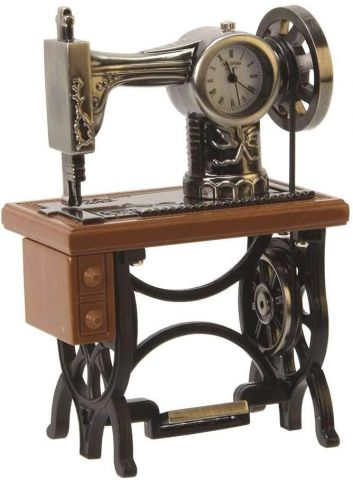 Sewing Machine Miniature Clock by Widdop & Co 9996
