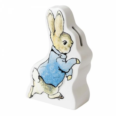 Beatrix Potter Peter Rabbit Running Ceramic Money Box by Enesco A25682