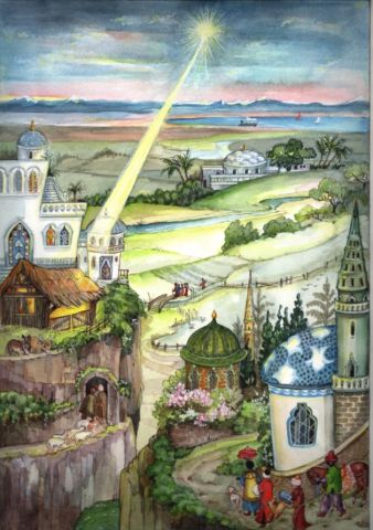 42 In the Holy Land Traditional A4 Advent Calendar by Richard Sellmer