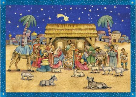 Richard Sellmer Advent Calendar A Visit to the Stable 70106