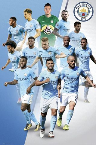 Manchester City Players Maxi Poster by GB Eye SP1471