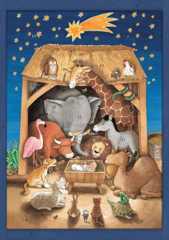 ACL71334 Baby Jesus and the Animals Traditional Advent Calendar by Coppenrath
