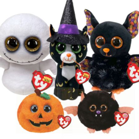TY Halloween Beanie Boo Complete Set | Pandora, Radar, Spike, Seeds, Echo