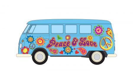 Corgi CC02738 Volkswagen Campervan Peace Love and Freedom