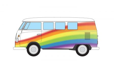 Corgi CC02739 Volkswagen Campervan Peace Love and Rainbow