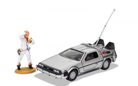 ORGI CC05503 Back to the Future DeLorean and Doc Brown Figure