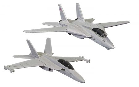 Corgi CS90682 Maverick & Goose's F14® Tomcat® (Top Gun, 1986) and Rooster's F/A-18 Hornet™ (Top Gun Maverick, 2020)