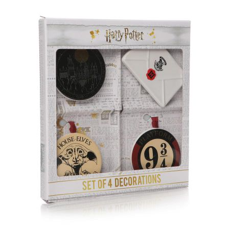 Harry Potter Set of 4 Christmas Decorations DECHP02 by Half Moon Bay