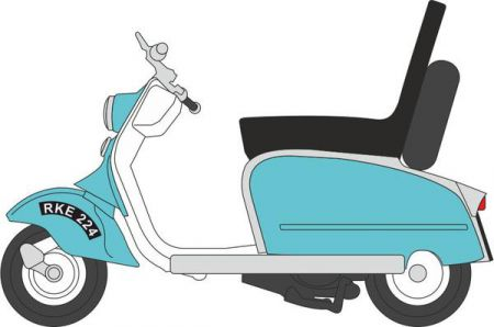 Oxford Diecast Scooter Blue/White 76SC001