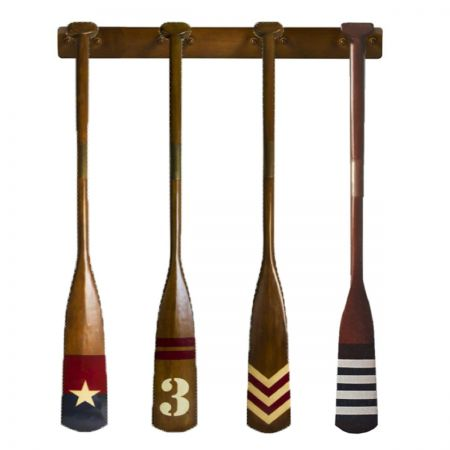Authentic Models set of 4 Royal Barge Oars and display rack FE300