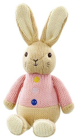 PO1541 Knitted Flopsy Bunny Soft Toy by Rainbow Designs