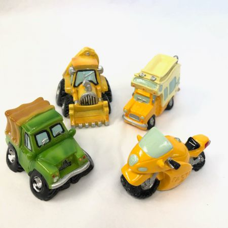 Miniature Ceramic Vehicle Paperweight Set of 4 Commercials