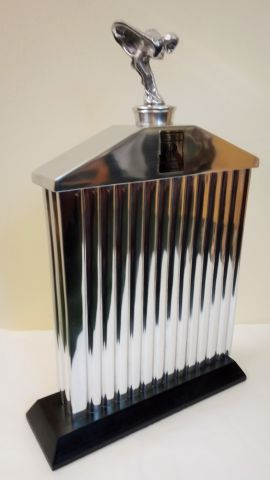 Rolls Royce Radiator Grill Ornament with Spirit of Ecstasy Flying Lady - Reproduction