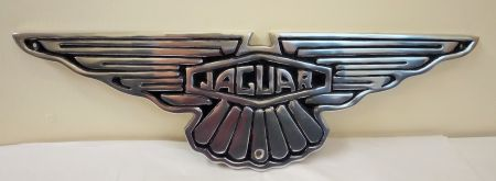 Jaguar Aluminium and Painted Reproduction Shaped Metal Sign