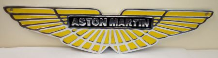Aston Martin Aluminium and Painted Reproduction Shaped Metal Sign