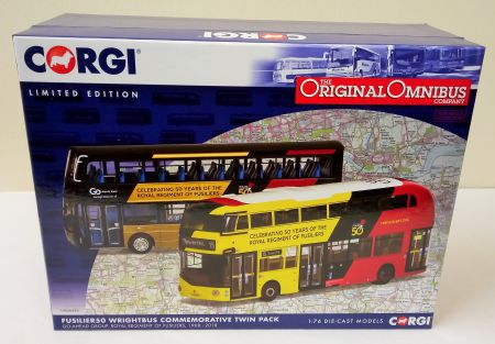 OM46620 New Routemaster Twin Pack 'Celebrating 50 Years of the Royal Regiment of Fusiliers'