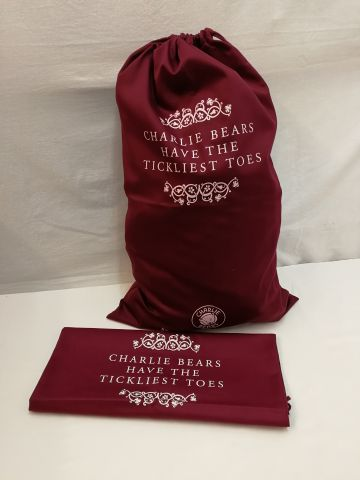 CBBAGXL Charlie Bear Drawstring 'Charlie Bears Have The Tickliest Toes' Extra Large Gift Bag