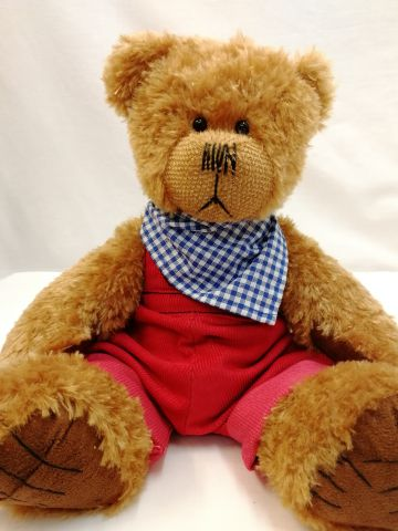 Alice's Bear Shop Clothes - Cobby Red Dungarees and neckerchief by Charlie Bears ABSCR