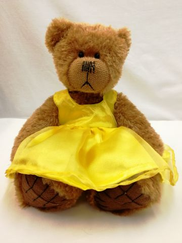 ABSTY Tilly Yellow Dress from Alice's Bear Shop by Charlie Bears