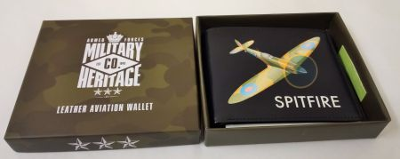 MH126 Spitfire Leather Aviation Wallet Military Heritage Co by Harvey Makin