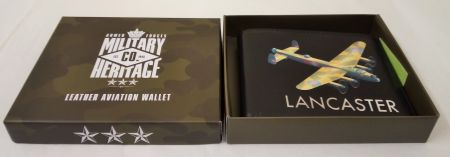 MH125 Lancaster Leather Aviation Wallet Military Heritage Co by Harvey Makin