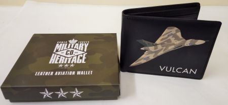 MH128 Vulcan Leather Aviation Wallet Military Heritage Co by Harvey Makin
